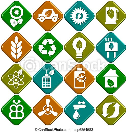 Ecological icons - csp6854583