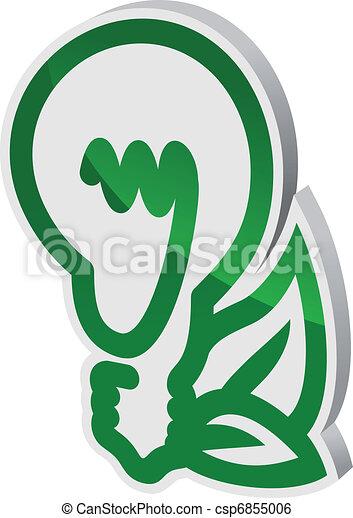 Ecological symbol - csp6855006