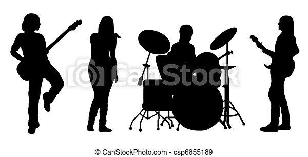 Singing Band Vector - csp6855189