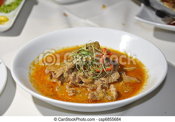 Beef in Red Curry - csp6855684