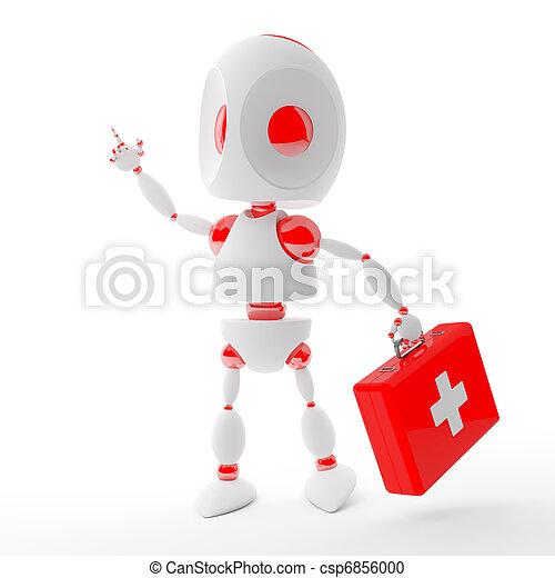 Cute first aid kit robot - csp6856000