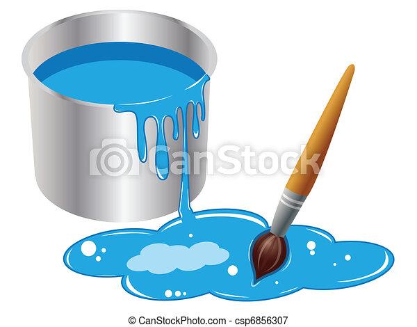 bucket of paint - csp6856307