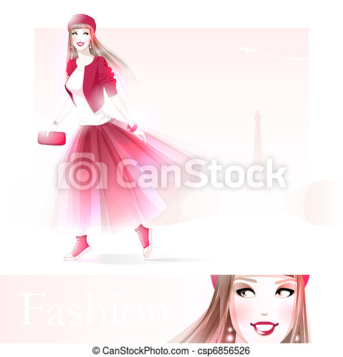 Fashion girl in Paris - csp6856526
