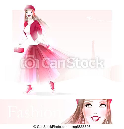 Fashion girl in Paris - csp6856526