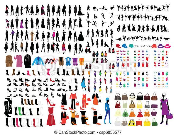 man and woman fashion  - csp6856577