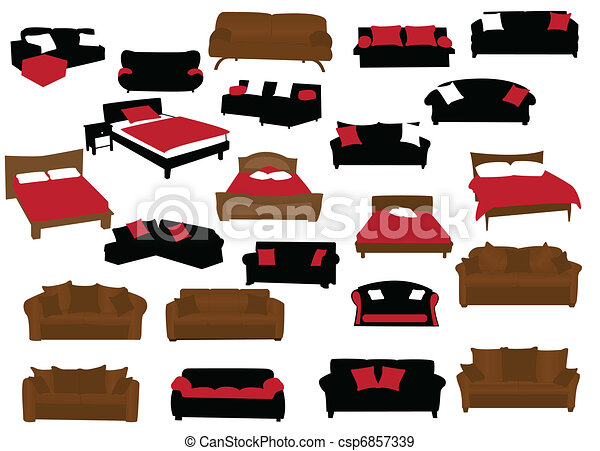 Modern Furniture Drawings eps vectors of furniture - modern sofa bed csp6857339 - search