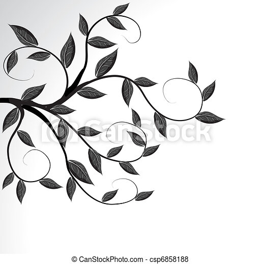 Vector of a tree branch silhouette - csp6858188