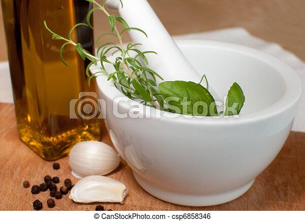 Preparation of marinade - csp6858346