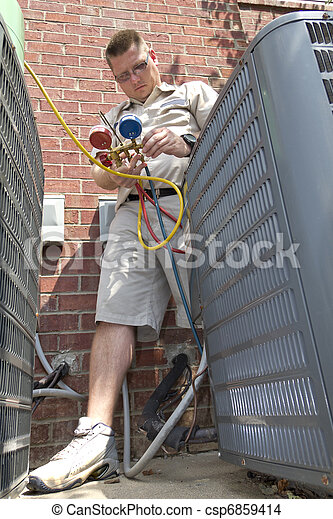 AC Repair Man - csp6859414