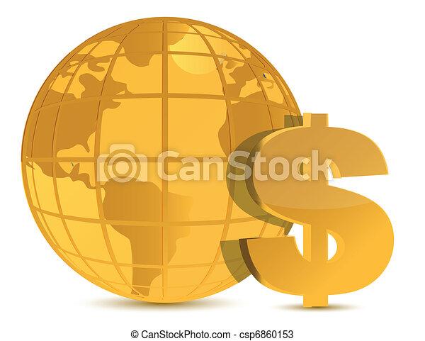 world and money wealth - csp6860153
