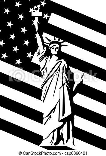 vector clip art de estatua  u  s  bandera  libertad statue of liberty clipart printable statue of liberty clip art black and white