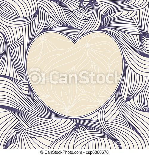 lovely heart frame - csp6860678