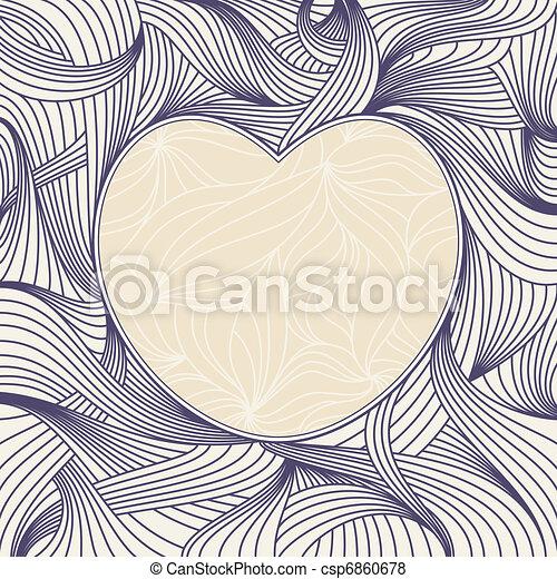 lovely heart frame - csp6860678