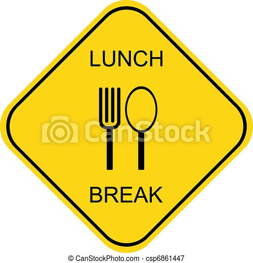 Lunch break - csp6861447