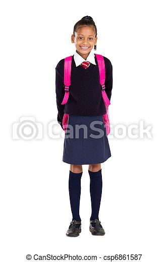 portrait of female elementary pupil - csp6861587