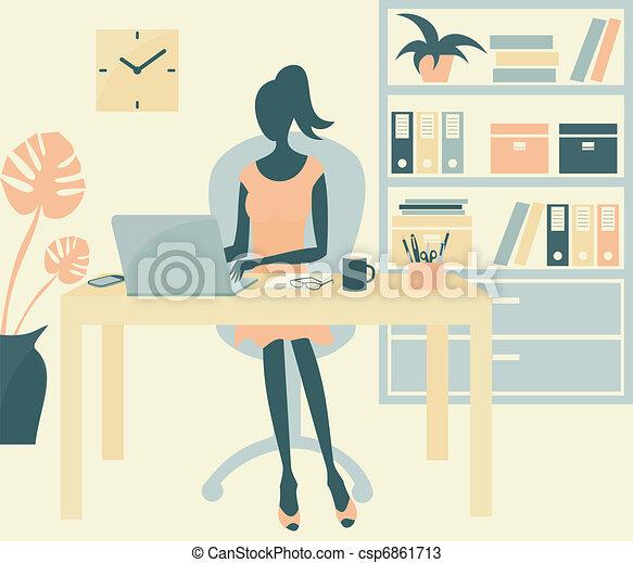 Ofice Girl - csp6861713