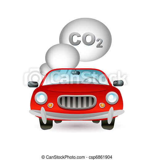 car pollution icon - csp6861904