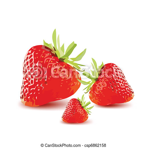 Red Ripe Strawberries. Vector - csp6862158