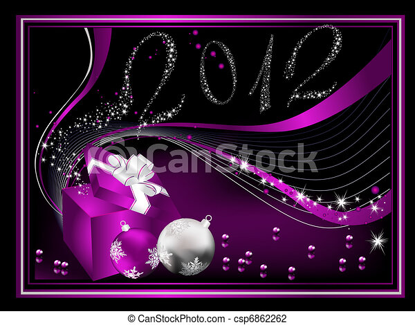 Happy New Year 2012 background - csp6862262