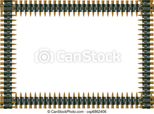 Machine-gun belt of ammunition - csp6862406
