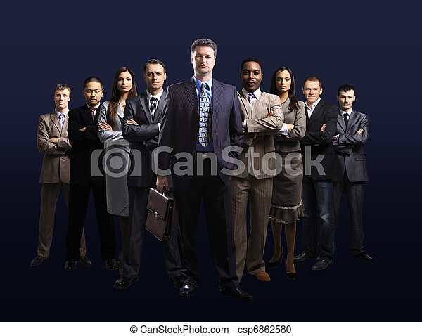 business team formed of young  - csp6862580