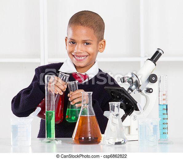 happy primary schoolboy - csp6862822