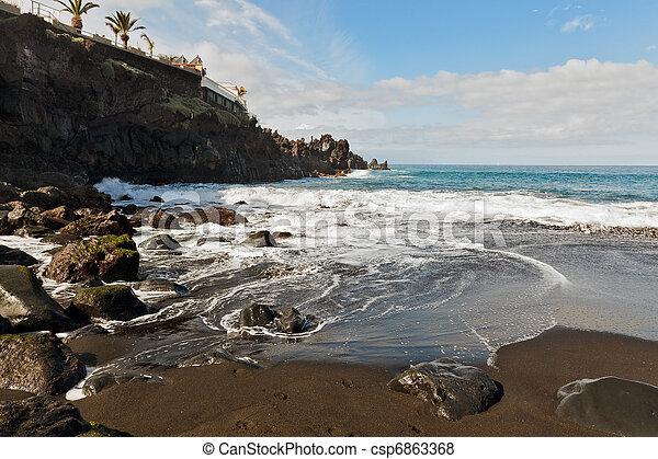 Rocky coastline Playa de Arenas Tenerife - csp6863368