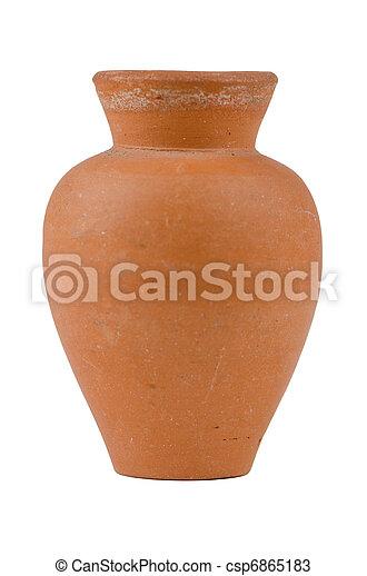 Old water ceramic vase - csp6865183