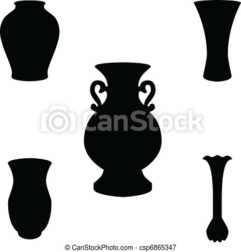 vase silhouette vector - csp6865347