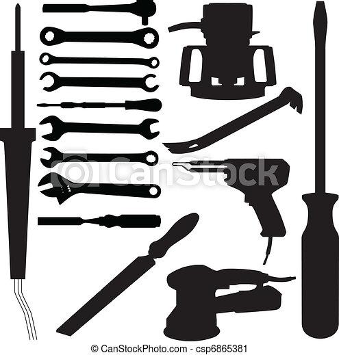 tool silhouette vector - csp6865381