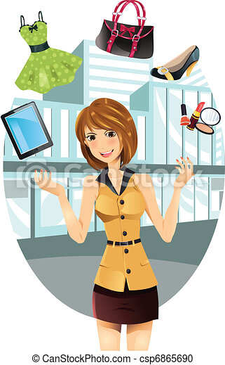 Shopping woman - csp6865690