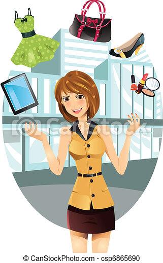 Shopping woman - csp6865690