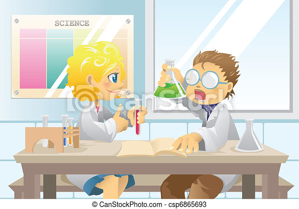Students in science project - csp6865693
