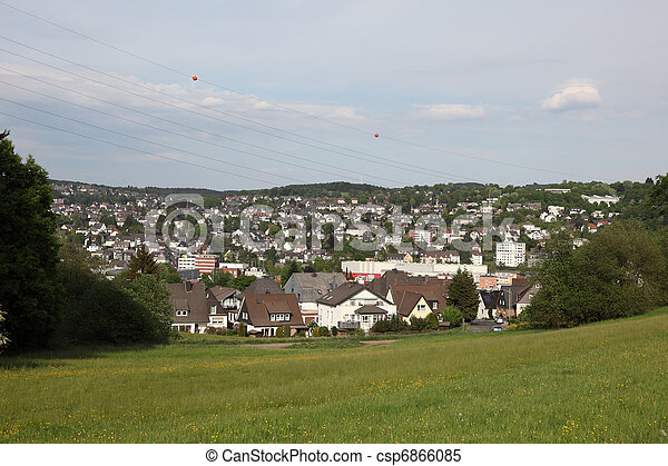 Town Siegen in North Rhine-Westphalia, Germany - csp6866085