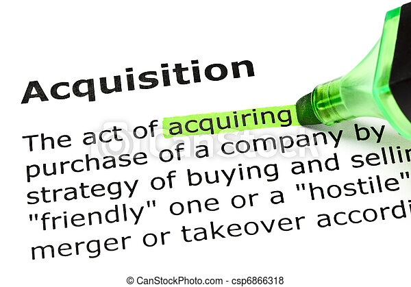 'Acquiring' highlighted, under 'Acquisition' - csp6866318