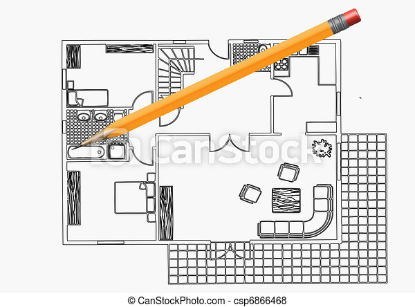 Vector the plan of apartment  - csp6866468