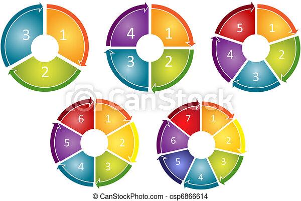 Process cycle business diagram - csp6866614