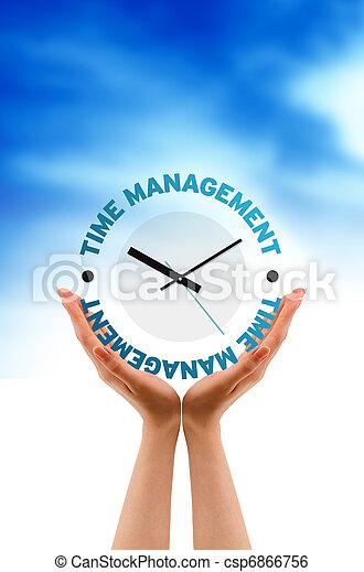 Hand  - Time Management Clock - csp6866756