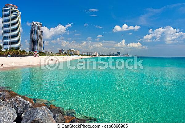 South Beach, Miami, Florida - csp6866905
