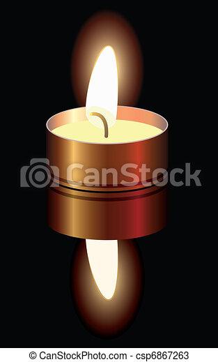 malý, hořící, svíčka - csp6867263