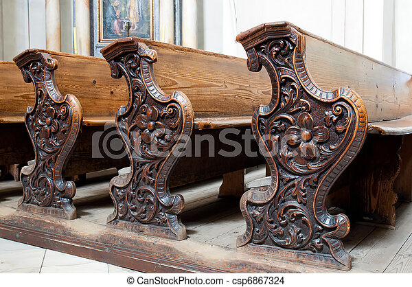 Church Pews - csp6867324