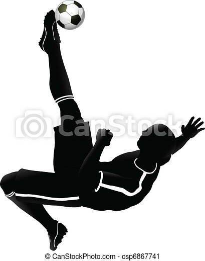 Soccer football player illustration - csp6867741