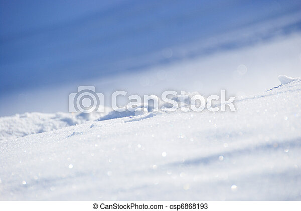 White Snow On A Sunny Day