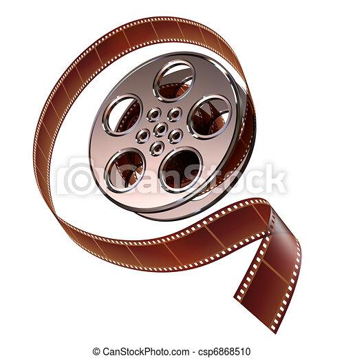 Reel of film - csp6868510