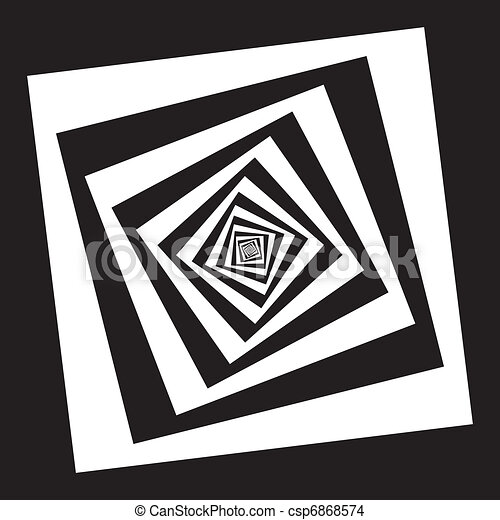 Spiral of black squars in vrious perspectives - csp6868574