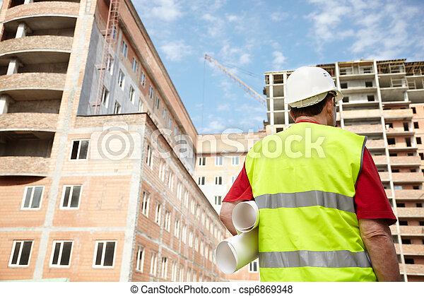 construção, sob - csp6869348