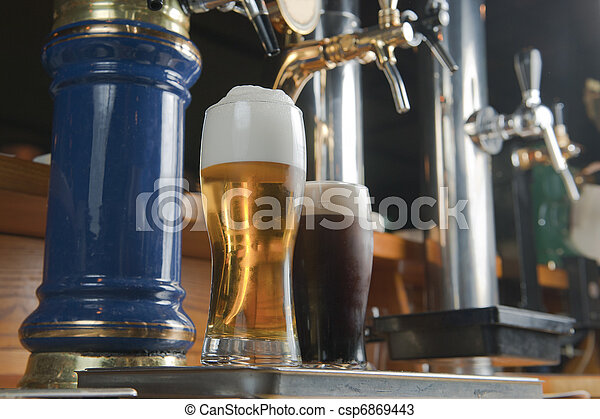 beer of barins is a faucet - csp6869443