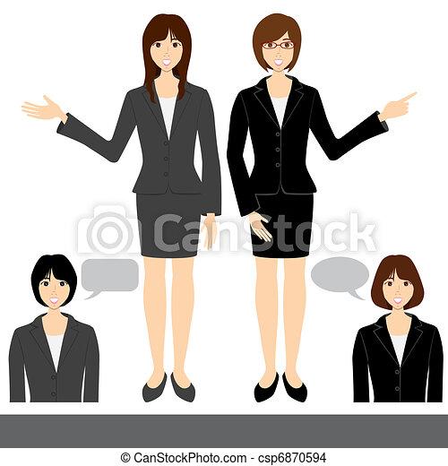 Business woman set - csp6870594