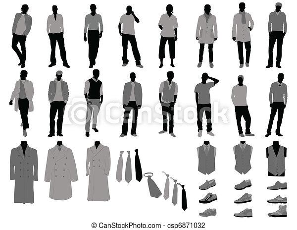 silhouette de mode dessin