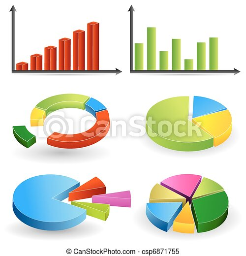 Bar Graph and Pie Chart - csp6871755